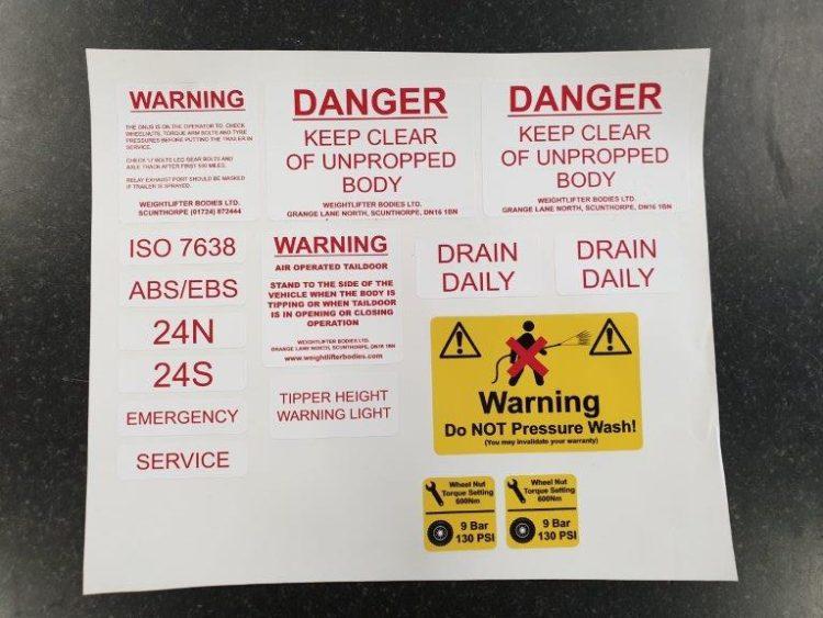 Warning kits