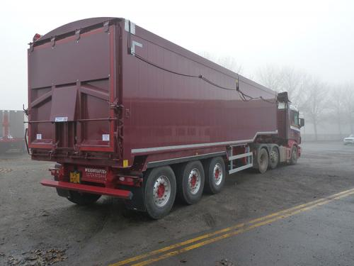 Bulk Tipping Trailer-Step Frame Chassis-Plankside