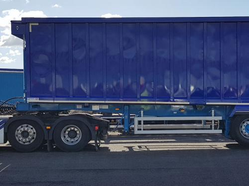 Steel Hardox Bulk tipping trailer Sloper frame chassis vertical headboard